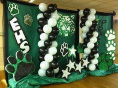 Decorations for High School reunion @eecorbitt this brings back memories from our high school dance pic backgrounds!