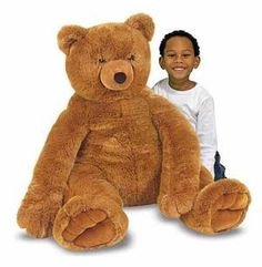Jumbo Brown Teddy Bear: This beautiful brown bear is over two feet in every dimension and features soft, furry fabric and a classic teddy-bear look. Soft and huggable, this timeless teddy will delight bear lovers of every age.