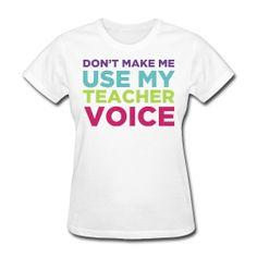 teacher voice ~ Women's Standard Weight T-Shirt