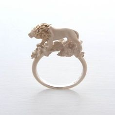 Lion Ring by Simmon's Shimon Sato of Tokyo