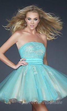 Short Satin Prom Dresses Natural Baby doll Prom Dresses 04249