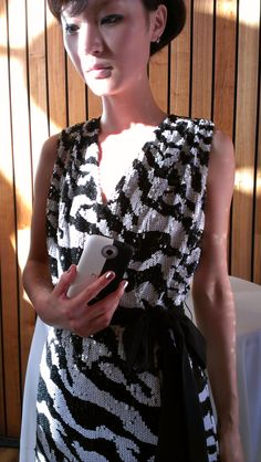 Custom Cushnie et Ochs HTC One backstage at the Erin by Erin Fetherston Cocktail Party, New York Fashion Week. Photo taken with an HTC One X.