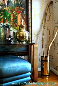 Stenciled Walls and a dramatic vignette