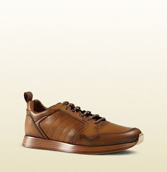 """[012715] """"leather lace-up sneaker"""" by Gucci"""
