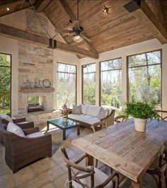 Style At Home, Home Decor Kitchen, Home Decor Bedroom, Unique Home Decor, Cheap Home Decor, Indoor Sunrooms, Screened Porch Designs, Screened Porches, Front Porch