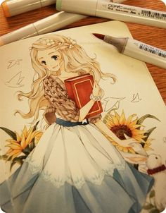 Beautiful drawing. This inspires me to use markers more often!