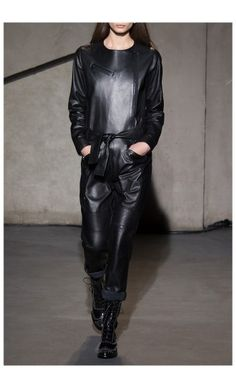 EACH X OTHER – FALL WINTER 2015 – PREORDER HERE: http://www.precouture.com/en/leather-jumpsuit/10657-leather-jumpsuit.html PRECOUTURE.COM is the first European website offering the possibility to preorder the looks straight from the runway. Order your looks now and wear them before anyone else, before it hits stores !