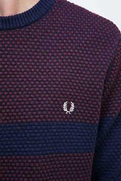 Fred Perry Pique Jumper in Navy