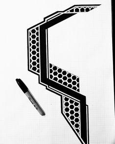 Search inspiration for a Geometric tattoo. Geometric Tattoo Stencil, Geometric Sleeve Tattoo, Geometric Tattoo Design, Geometric Mandala, Tattoo Stencils, Leg Band Tattoos, Sleeve Tattoos, Bee Tattoo, Dark Tattoo