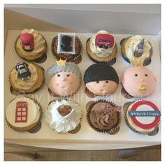 London themed cupcakes