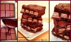 Le voici le voilà enfin je l'ai testée ce merveilleux brownies kit kat du blog de recettes by hanane . Il est super bon super fondant et super calorique aussi lol. les ingrédients sont pour un moule de...