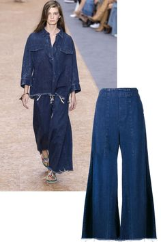 BAZAAR tracks the best denim in our store, from overalls to pants, swimsuits and more: