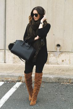 5 Favorite Flat Top Sunnies (Somewhere, Lately) Cognac Boots Outfit, Flat Boots Outfit, Over The Knee Boot Outfit, Camel Boots, Spring Summer Fashion, Autumn Winter Fashion, Winter Style, Love Fashion, Fashion Outfits