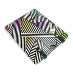If only I had an iPad.... Leather case  Bold geometric by tovicorrie on Etsy, $98.00