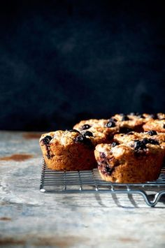 Blueberry Almond Muffins / Occasionally Eggs