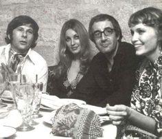 Roman Polanski, Sharon Tate, Peter Sellers and Mia Farrow.