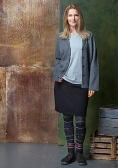 Solid-colored skirt in cotton/spandex – Size XXL – GUDRUN SJÖDÉN – Webshop, mail order and boutiques | Colorful clothes and home textiles in natural materials.