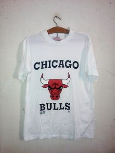 Sale Rare !! Vintage Chicago Bulls Basketball Pro-Club Official Product NBA Celebrity fashion style 90's hip hop era White Unisex Sz M by Psychovault on Etsy