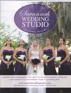 These are my wedding colors! well the eggplant. i like the white vs purple bouquets wedding