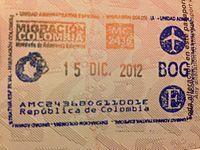 Colombian migration exit stamp 2013-11-10 19-12.jpg