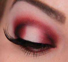 red eyeshadow look
