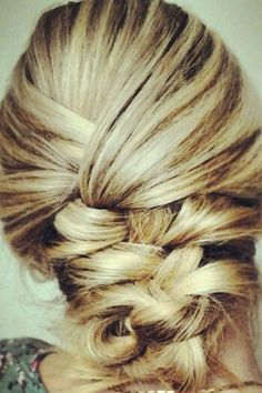 pin the ends of the braid for a makeshift updo