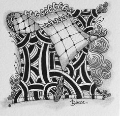 Zentangle Tile by Diana Linsse