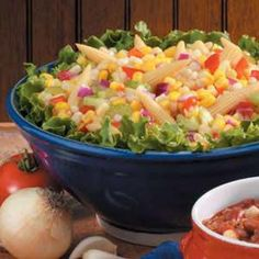 CORN MEDLEY SALAD:  http://texasrecipes.tumblr.com/post/25482637613/corn-medley-salad#