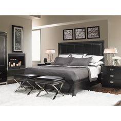 Lexington Black Ice Graphite Panel Bedroom Set