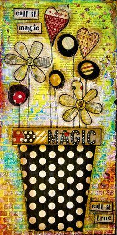 Stanza della Creatività : mixed media tutorial: call it magic (+playlist)