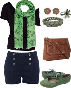 """""""Bike and green"""" by pixel-azul on Polyvore"""
