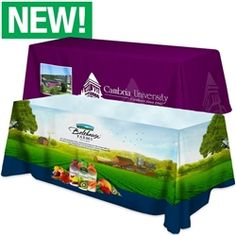 All Over Dye Sub Table Cover - flat poly 3-sided