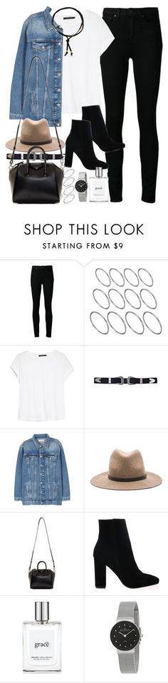 """Untitled #162"" by simonakolevaa ❤ liked on Polyvore featuring Paige Denim, ASOS, MANGO, rag & bone, Givenchy, philosophy, Skagen and Jules Smith"