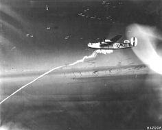 "B-24M Liberator ""Second Chance II"" of US 8th Air Force over Zossen, Germany, Mar 15 1945. (US National Archives)"