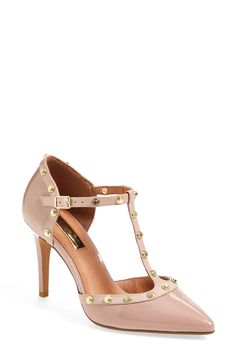Will probably end up wearing these pretty pale pink studded T-strap pumps with everything!