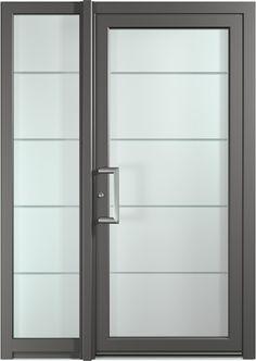 Pose d 39 une porte d 39 entree vitree en aluminium a sollies for Porte entree vitree