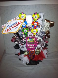 Las Vegas guest favor . $20.00, via Etsy. Vegas Theme, Vows, Las Vegas, Bouquet, Wedding Ideas, Candy, Gift Ideas, Inspired, Retro