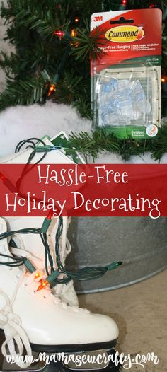 Favorite decorating product for hanging holiday decor with no hassle and no damage. #ad #DamageFreeHoliday #CBias