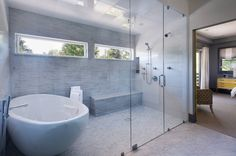 Matt Muenster, a licensed contractor and host of DIY Network's Bath Crashers and Bathtastic shares his list of the 10 best bathroom remodeling trends. A combination bathtub/shower wet room is flexible and beautiful. Wet Room Bathroom, Bathroom Interior, Bathroom Faucets, Bathroom Mirrors, Bathroom Cabinets, Bath Room, Bathroom Storage, Modern Bathroom, Brick Bathroom