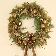 Distinctive Designs Artificial Cedar Wreath   Wayfair