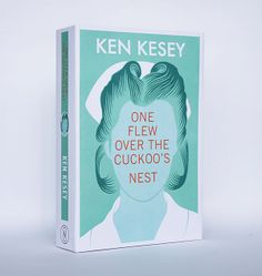 """One Flew Over the Cuckoo's Nest"" book cover. This image indicates how iconic the combination of Nurse Ratched's distinctive hair-style and nurse's uniform is. The viewer does not need to see her face to identify her. Her features have been replaced by the title, which now forms the focal point. The green colouring is of an traditional institutional shade."