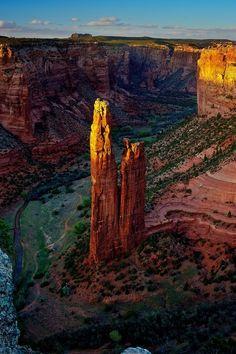Spider Rock in Canyon de Chelley, Sedona, AZ