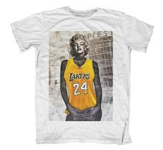 c2a663daff0 Marilyn Monroe Yellow Basketball T Shirt Tee S M L by OneInfluence