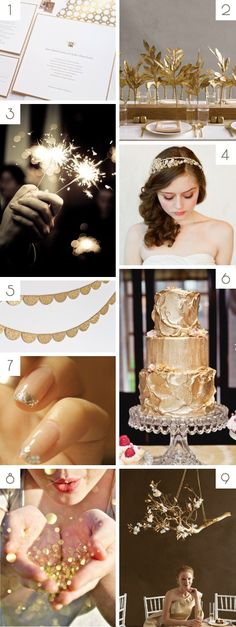 Gold wedding inspiration