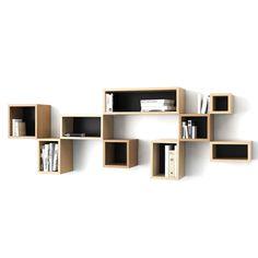Cube Shelf 12x20 Black