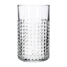 IKEA - FRASERA, Glass, Glasset har en enkel, høy og rett form, som gjør det perfekt for alle typer kald drikke.