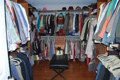 As seen on Money Hunters on DIY Network: Here's our new Master Closet.  It's pretty amazing.