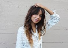 Super hair color ideas for brunettes balayage bangs ideas - Pony Frisur Brunette Pony, Brunette Bangs, Brunette Color, Brunette Fringe, Long Brunette, Hairstyles With Bangs, Trendy Hairstyles, Bangs Hairstyle, Hair Bangs