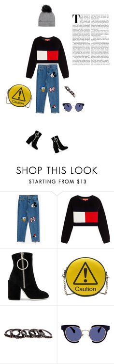 """""""RESIST"""" by rainbowcloudinosaur ❤ liked on Polyvore featuring Pull&Bear, Off-White, Melie Bianco, Free Press, Kaleos, Woolrich, StreetStyle and StreetChic"""