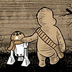 """""""Wookie the Chew"""" by James Hance  Star Wars/Winnie the Pooh mash-up!  I want all of these."""